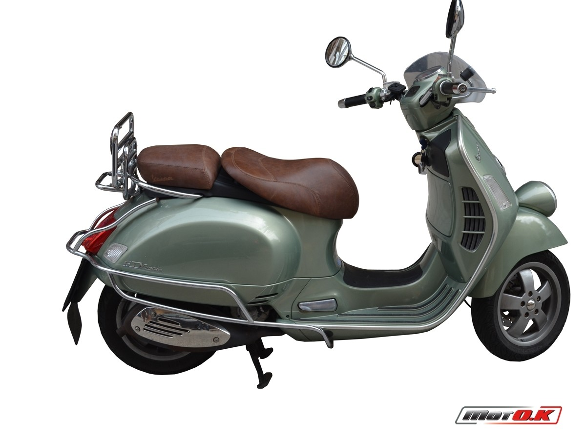 Genuine leather seat covers for Piaggio Vespa GTV 250 ie on