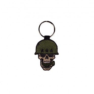Double-sided key ring, with embroidery