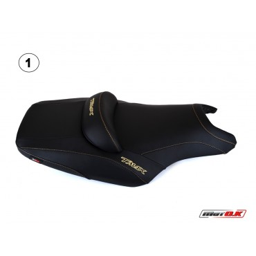 Seat covers for Yamaha T-max 500/530 (08-11) WITH 3 EMBROIDERED LOGOS