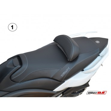 Seat covers for Yamaha T-max 500/530 (08-11) WITH 2 PRINTED LOGOS